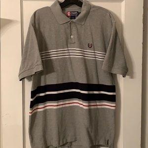 Vintage Chaps Ralph Lauren Knit Polo w/Stripes SzL